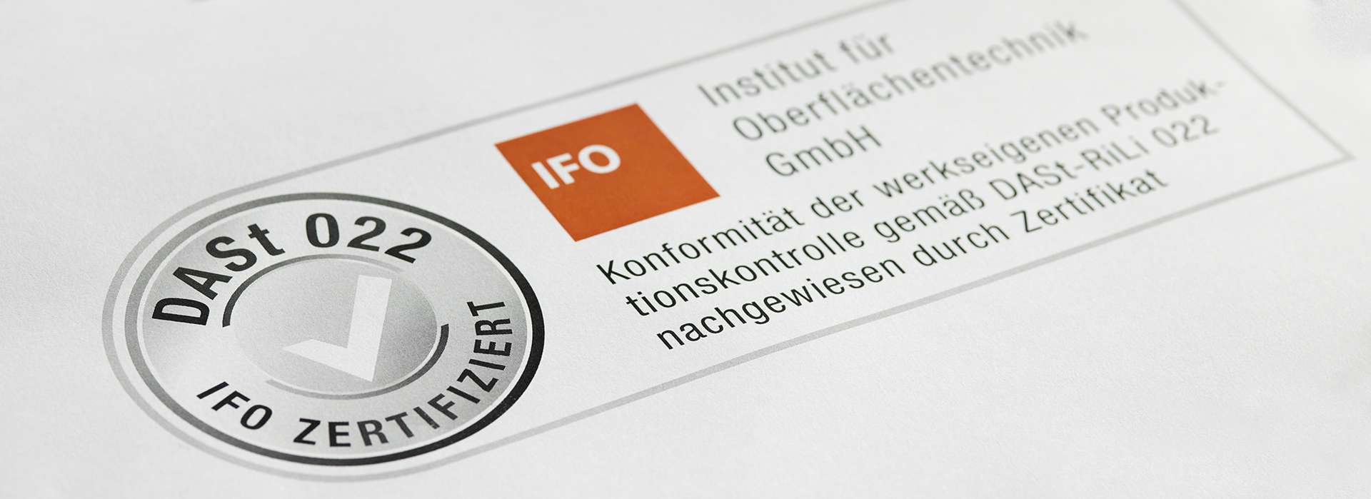 Certificates / IFO Institut für Oberflächentechnik